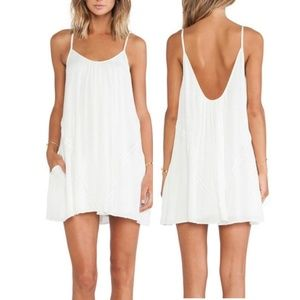 Lovers + Friends 'Fly Away' White Mini Dress